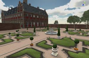Reconstructie van de tuinen bij het paleis van koning Frederik V van de Palts te Rhenen. Virtueel ontwerp naar de situatie rond 1630 (2012-2014).