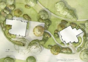 Kenaupark 6-8. Aanpassing tuinaanleg en beplanting (tek. Juliet Oldenburger)