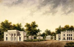 Perfecte illusie? Schetsen van Jan D. Zocher jr. voor een grafveld (l.) en een villapark (r.). Tekeningen, bestemd voor de publicatie Landelijk Bouwkundige Ontwerpen (aangekondigd in 1834/1835, maar nooit verschenen).